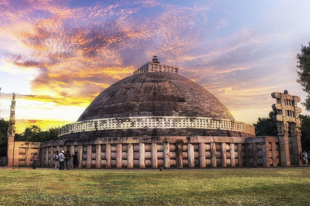 The GReat Stupa At Sanchi Madhya Pradesh