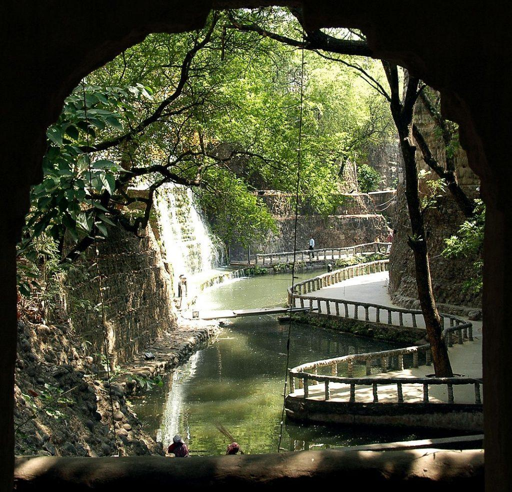Chandigarh Waterfalls at rock garden